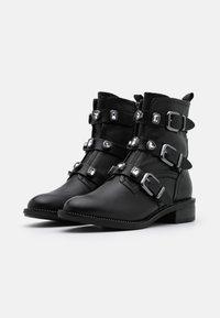 Tamaris - BOOTS - Cowboy/biker ankle boot - black - 2