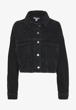 CROP JACKET - Denim jacket - black denim