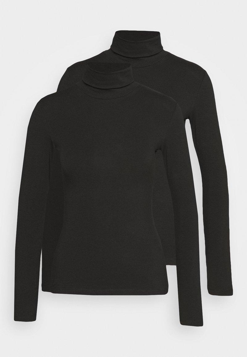 Anna Field 2 PACK - Langarmshirt - black/schwarz j7zgB2