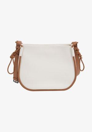 Across body bag - white/ginger