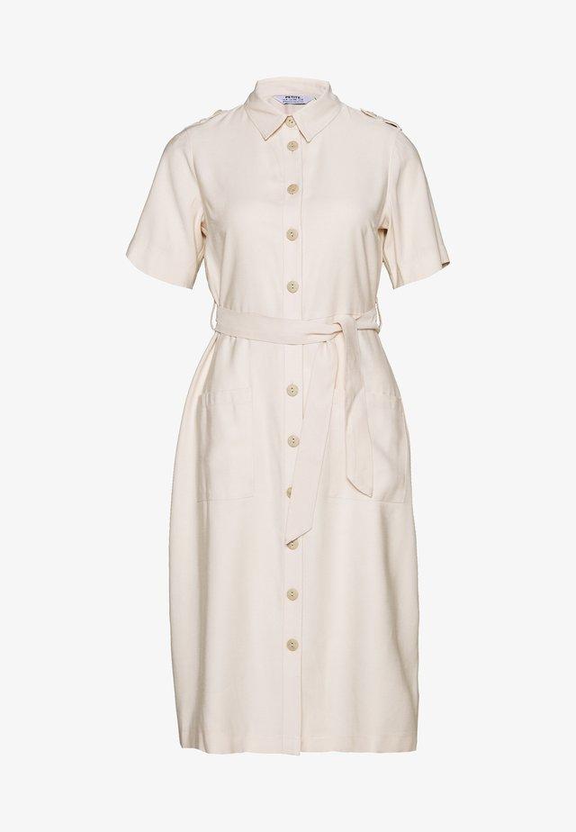 PETITES SHIRT DRESS - Skjortekjole - stone
