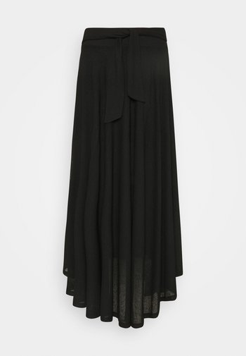LONG - Maxi sukně - black
