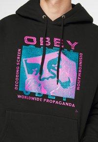 Obey Clothing - DECODING SCREENS - Hoodie - black - 6