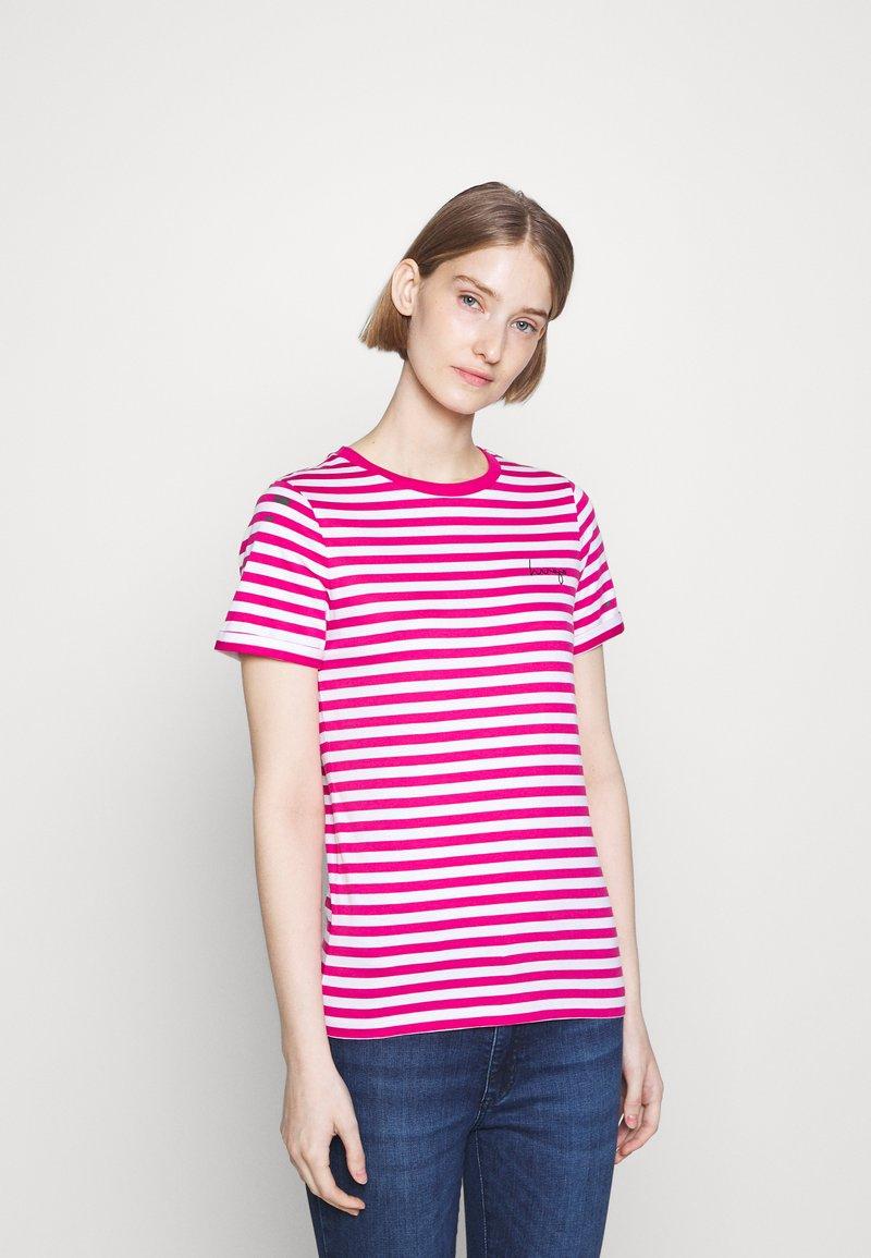 HUGO - THE SLIM TEE - Print T-shirt - bright pink