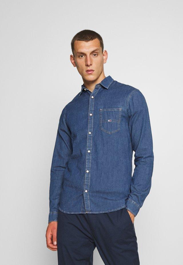 STRETCH SHIRT - Koszula - mid indigo