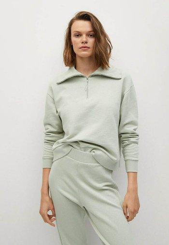 MIT FUNNELNECK - Fleece jumper - khaki