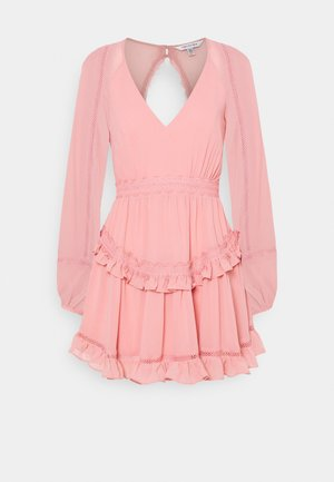 JANE SPLICE MINI DRESS - Day dress - dusty blush