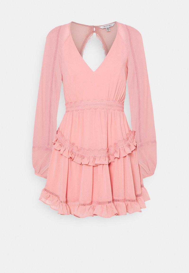 Forever New - JANE SPLICE MINI DRESS - Day dress - dusty blush