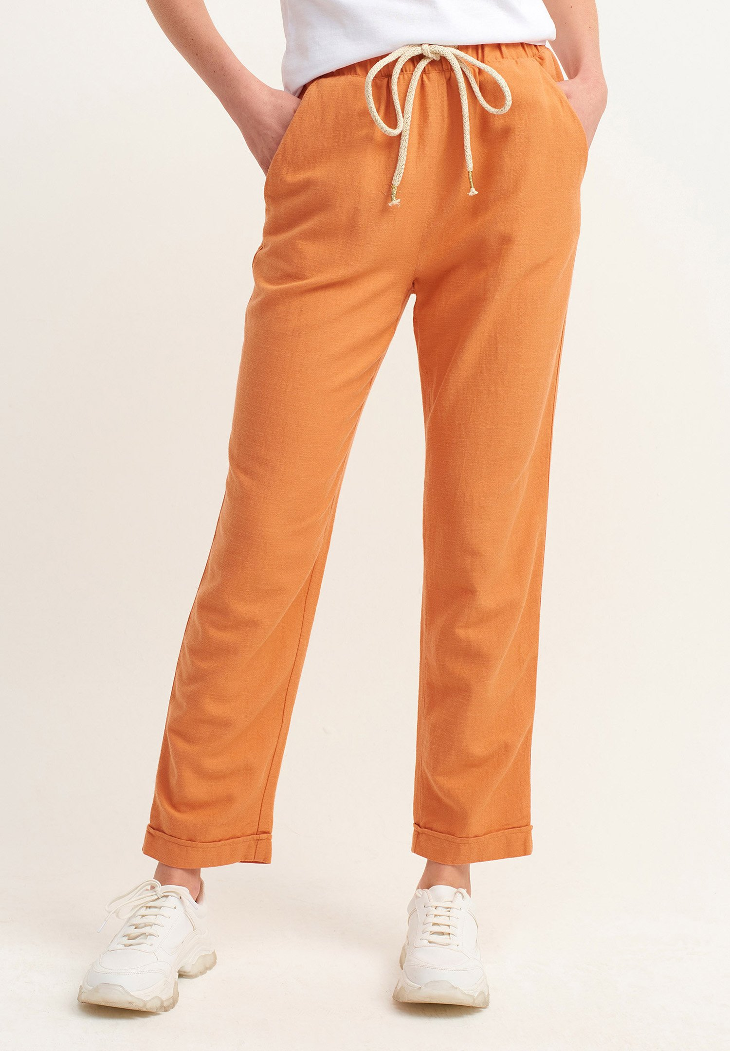 Donna MIT BINDEDETAIL - Pantaloni sportivi