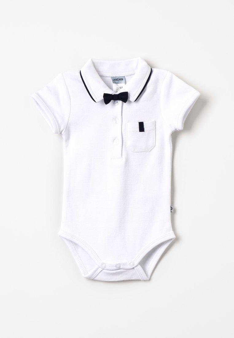 Jacky Baby - KURZARM MIT ABNEHMBARER FLIEGE CLASSIC BOY BABY - Polotričko - weiß