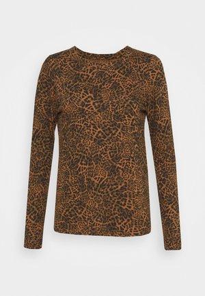 COZY SLUB CREW PRINTS - Long sleeved top - black