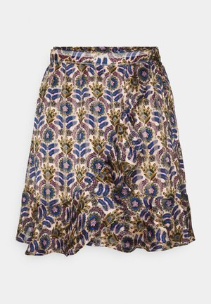 PRINTED WRAP OVER SKIRT - Mini skirt - combo