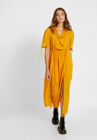 Topshop - EYETLET DETAIL COWL MIDI - Day dress - colour - 0
