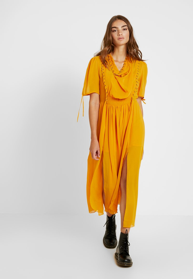 Topshop - EYETLET DETAIL COWL MIDI - Day dress - colour