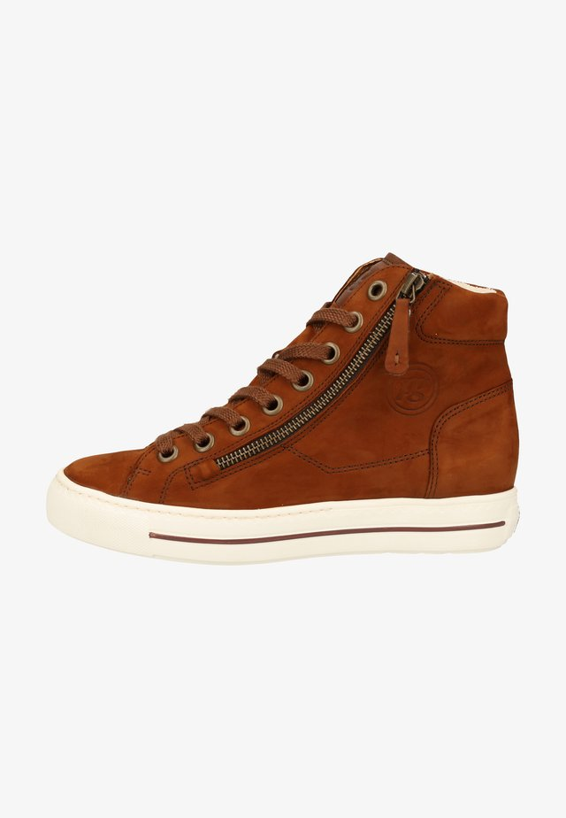 High-top trainers - cognac-braun 037