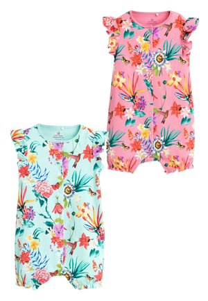 PINK 2 PACK TROPICAL LEAF ROMPERS (0MTHS-3YRS) - Overal - pink
