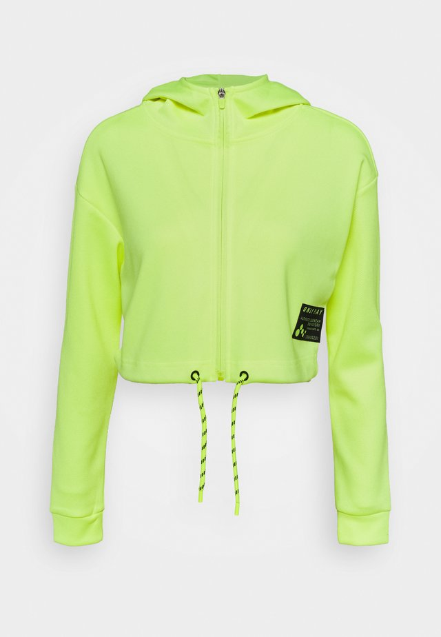ONPJUDIE CROPPED ZIP HOOD - Giacca sportiva - safety yellow