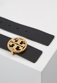 Tory Burch - TWISTED LOGO BELT - Riem - black - 2