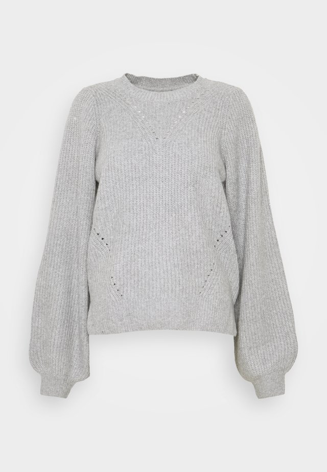 NMLUKE - Jumper - light grey melange