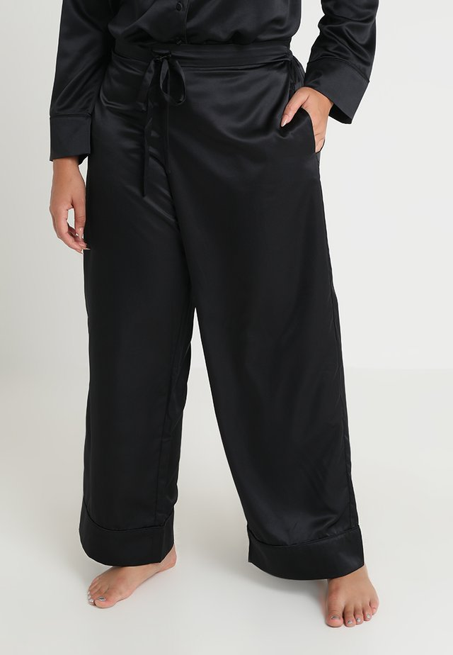 PLUS PAJAMA BOTTOM - Bas de pyjama - black