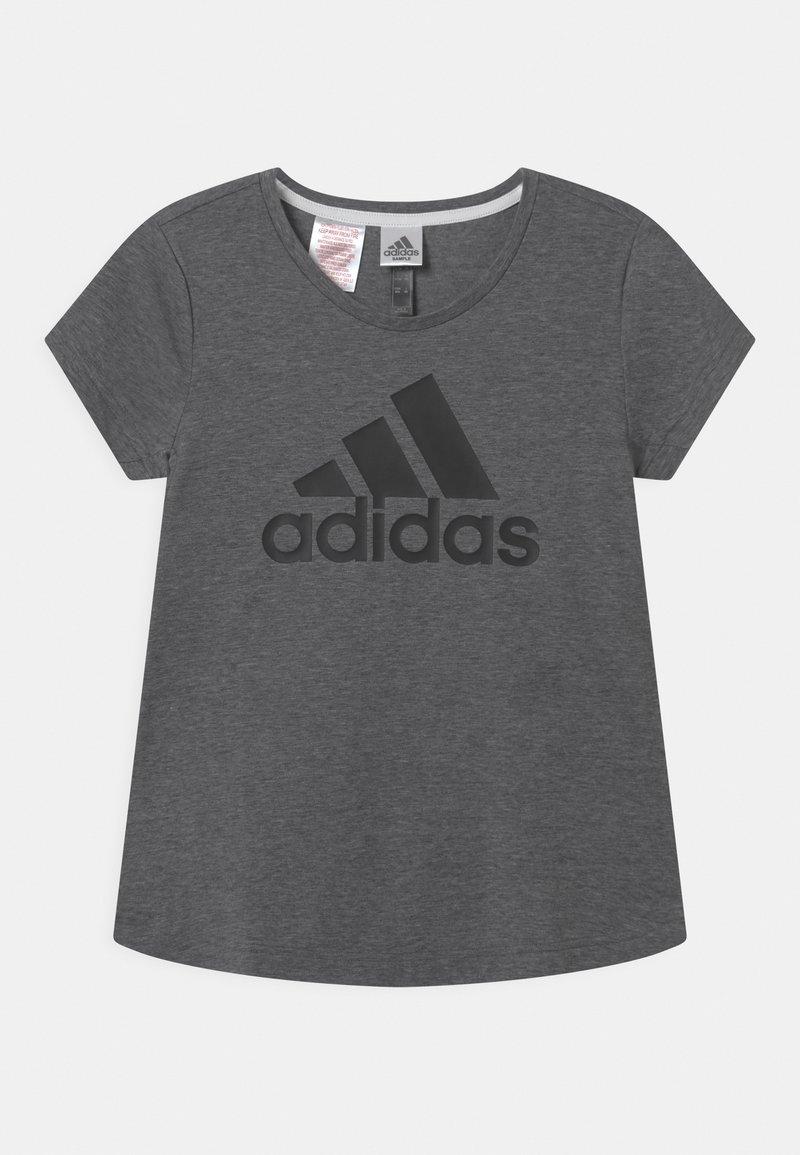 adidas Performance - LOGO UNISEX - Print T-shirt - black/white