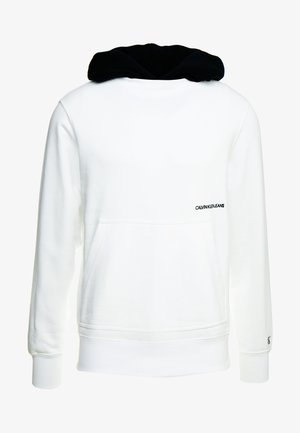 CONTRASTED HOODIE - Mikina skapucí - bright white/black