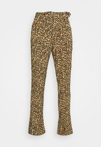 DIANA LEOPARD PANTS - Trousers - brown