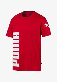 Puma - SHORT SLEEVE - T-shirt imprimé - high risk red - 3