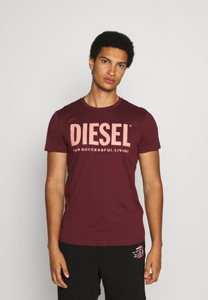 DIEGO LOGO - T-shirt con stampa - bordeaux