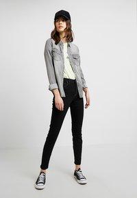 Vila - Button-down blouse - grey - 1
