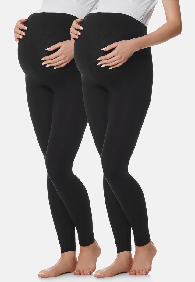 2 PACK - Legging - black/black