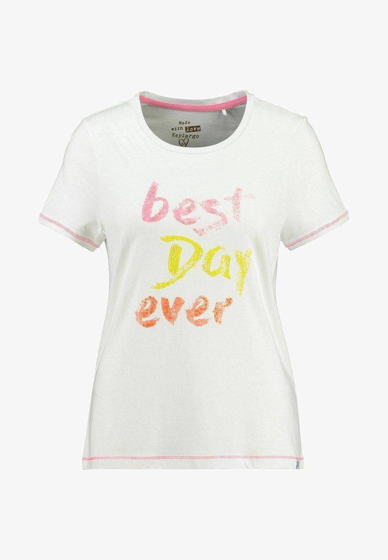 Key Largo - Print T-shirt - weiss