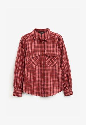Button-down blouse - berry