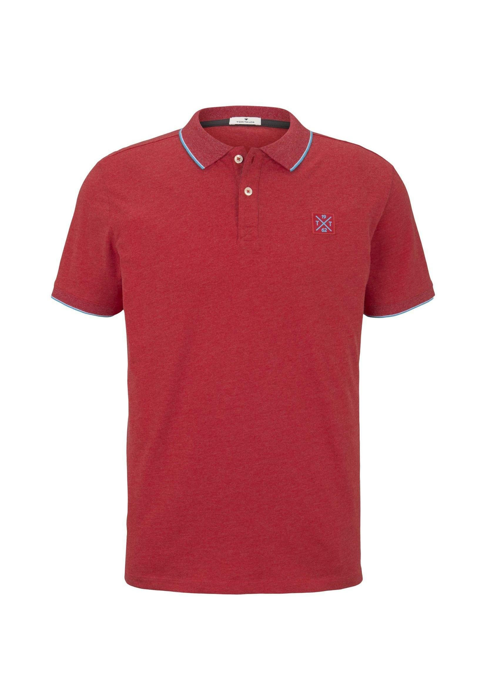 Tom Tailor With Tipping - Poloshirt Royal Blue/white Melange