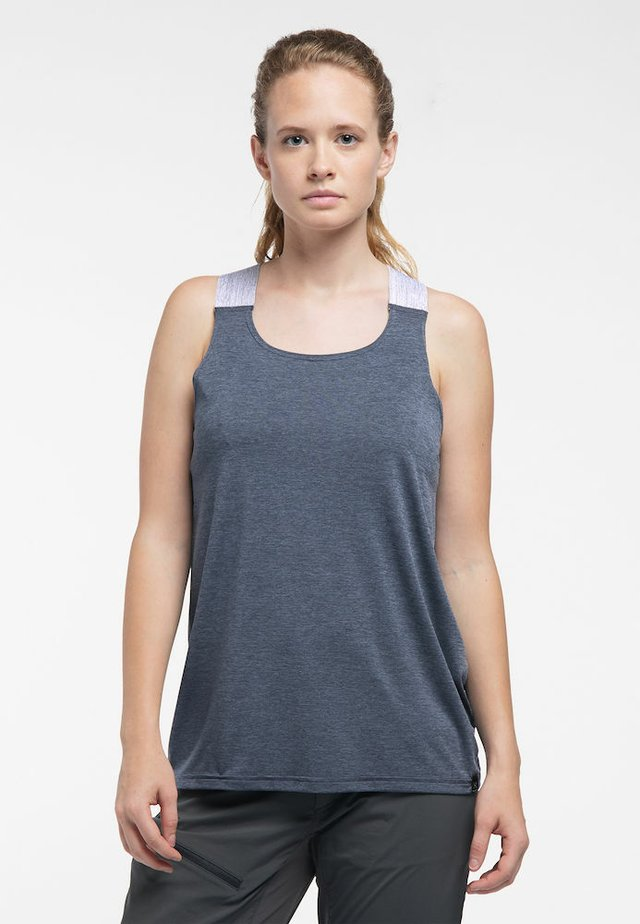 RIDGE TANK - Sports shirt - dense blue