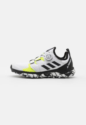 TERREX AGRAVIC BOA RUNNING - Trail running shoes - footwear white/core black/solar yellow