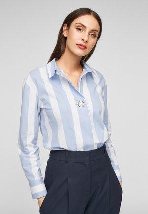 Button-down blouse - blue stripes