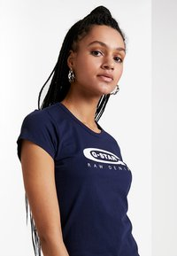 G-Star - GRAPHIC  - Print T-shirt - sartho blue - 3