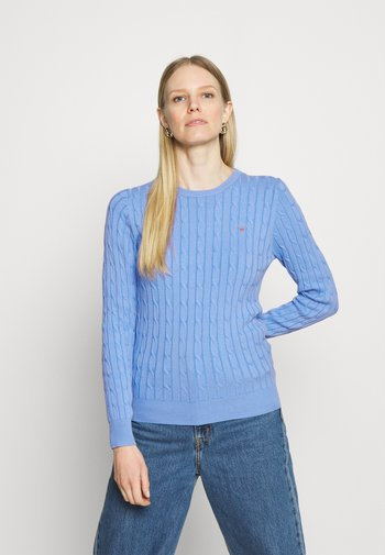 CABLE CREW - Jumper - silver/lake blue