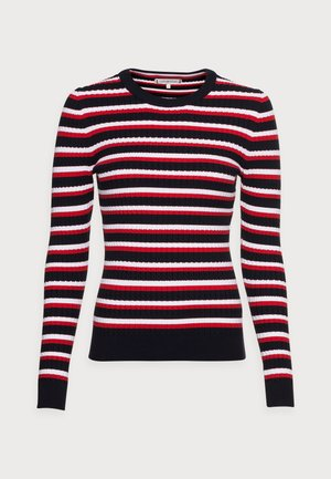 CABLE  SWEATER  - Trui - blue