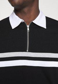 Weekday - OMAR HALFZIP - Polo shirt - black - 5