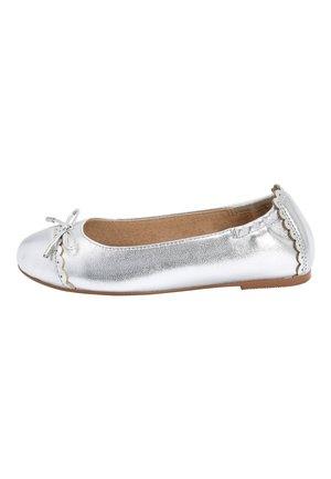 BLACK LEATHER BALLET SHOES (OLDER) - Ballet pumps - silver
