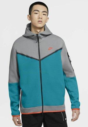 Zip-up sweatshirt - wolf grey/aquamarine/turf orange