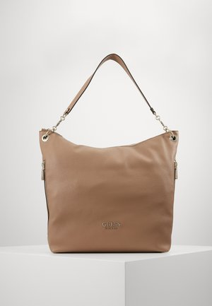 CHAIN LARGE HOBO - Tote bag - tan