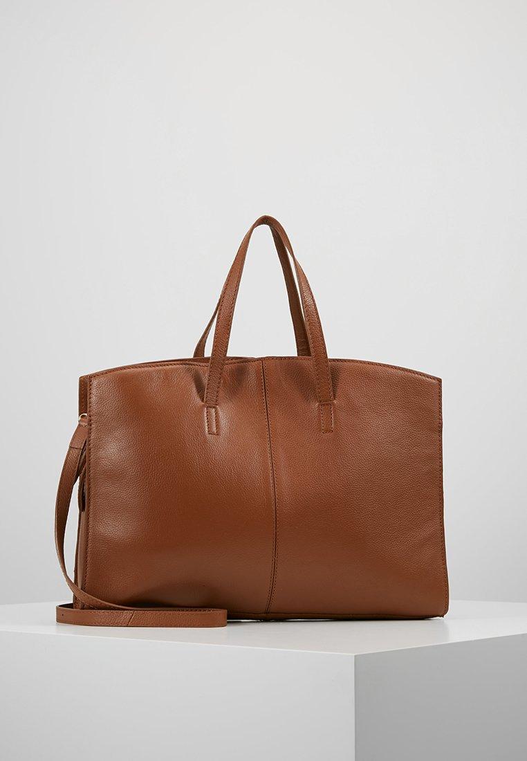 KIOMI - LEATHER - Laptop bag - cognac