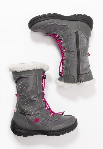 CATHRIN - Winter boots - grau/pink