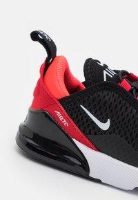 Nike Sportswear - AIR MAX 270 UNISEX - Trainers - black/white/university red/bright crimson - 5