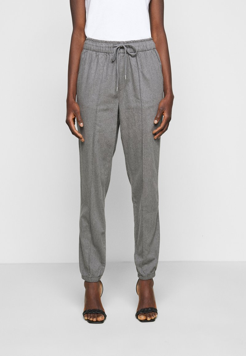 Gap Tall - WARM JOGGER DRAWSTRING - Tracksuit bottoms - grey heather