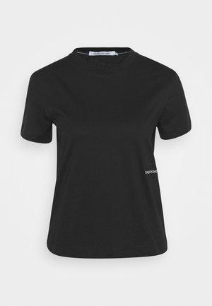OFF PLACED MONOGRAM TEE - Basic T-shirt - black
