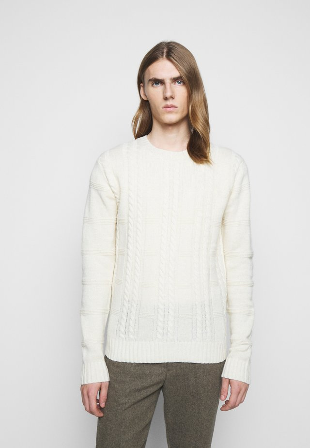 GREENE CABLE - Pullover - offwhite